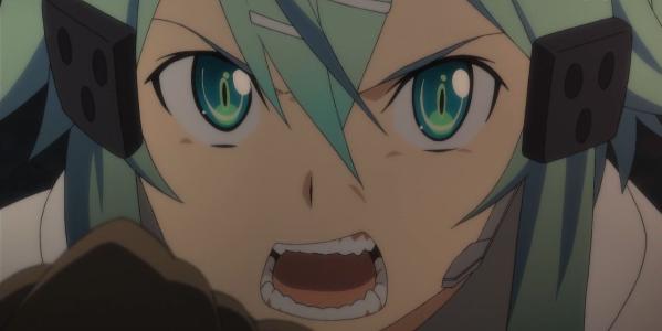 SAO シノン 怒りの表情