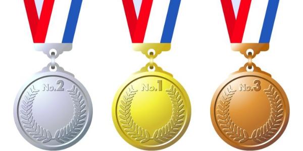 金メダル銀メダル銅メダル